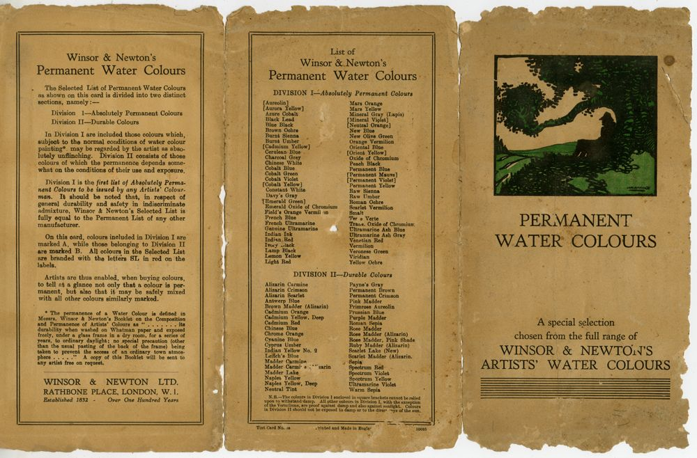 1932 Colours booklet
