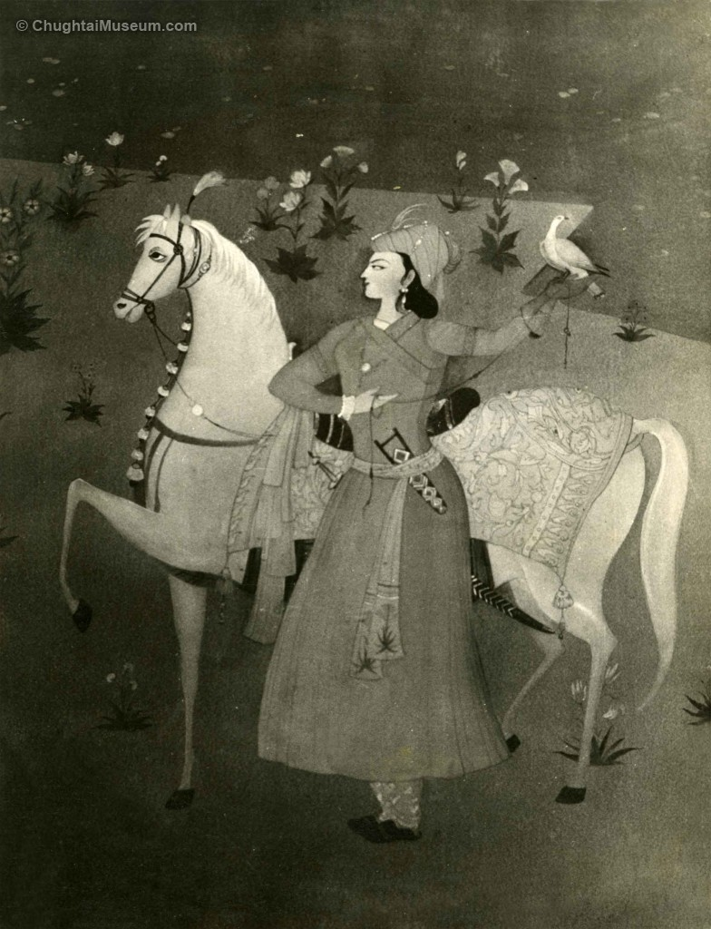 Mughal Princess with Horse