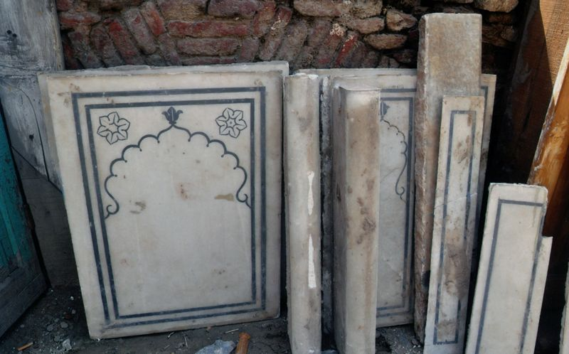 300 Makrana Marble tiles thrown out