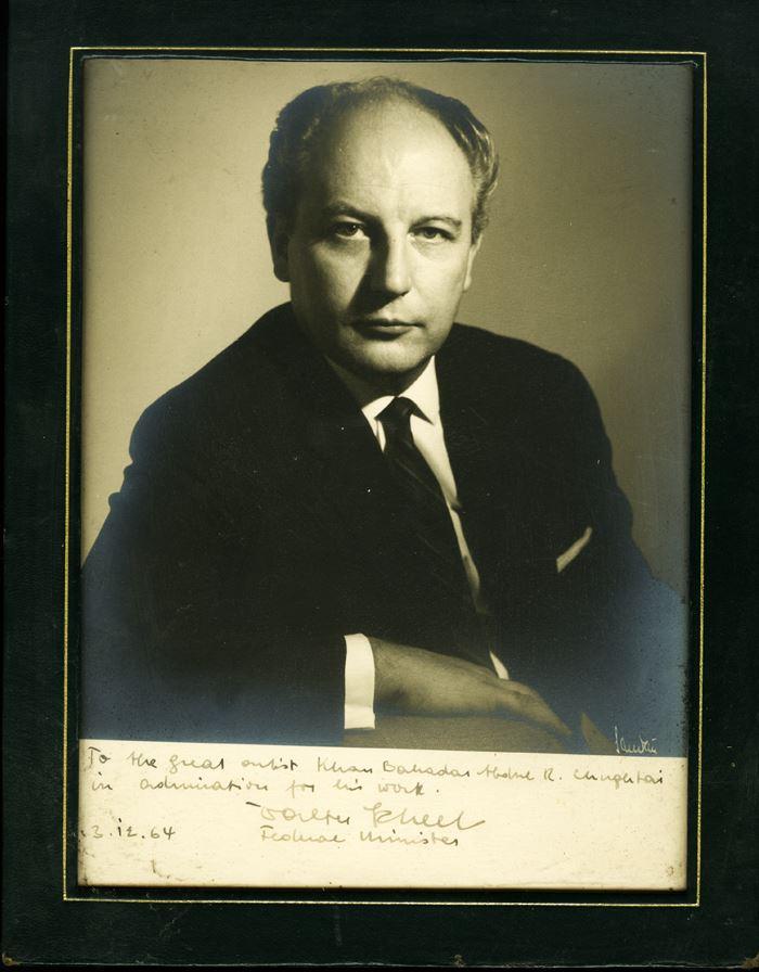 3rd Dec 1964 Walter Scheel visit house
