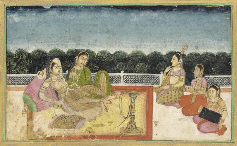 A Mughal scene