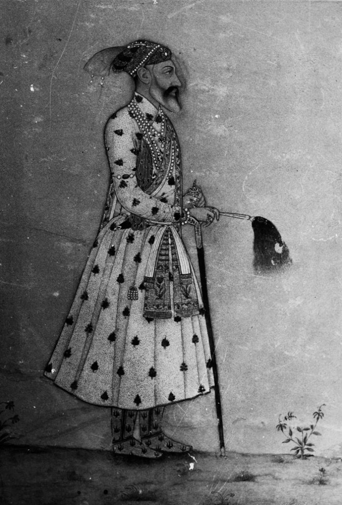 A crowned Aurangzeb Alamgeer