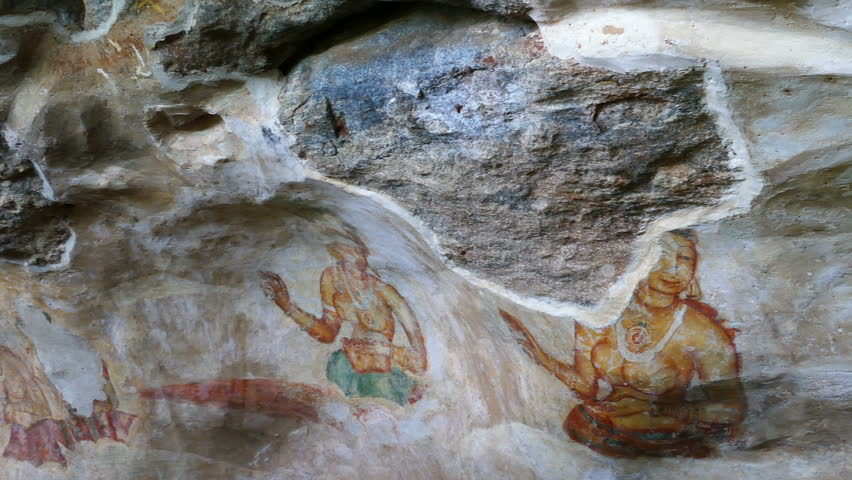 Actual view of paintings on rock