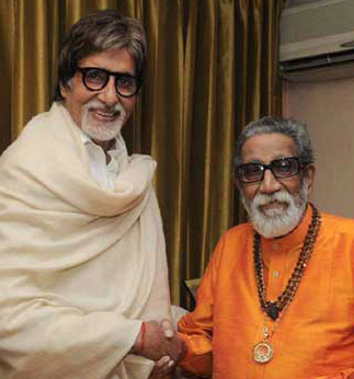 Bal-thackeray and Amitabh-bachan