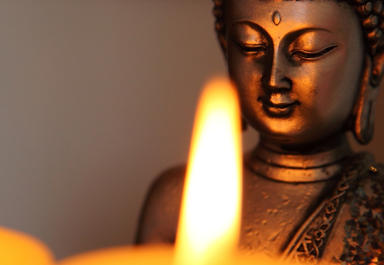 Buddhism and candles