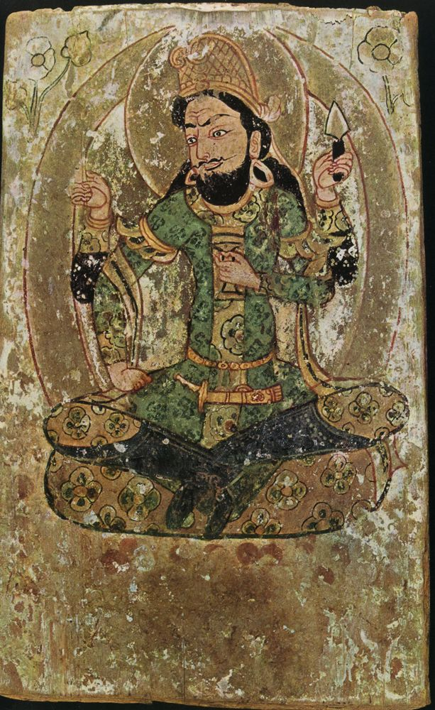 Central Asian Fresco Sassanian Iran
