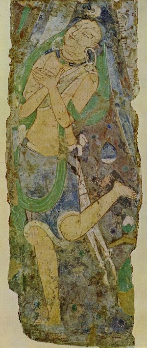 Central Asian Fresco Worshipper