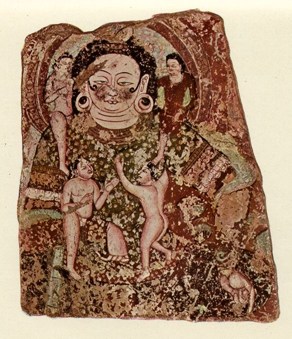 Central Asian depiction of Goddess Smallpox