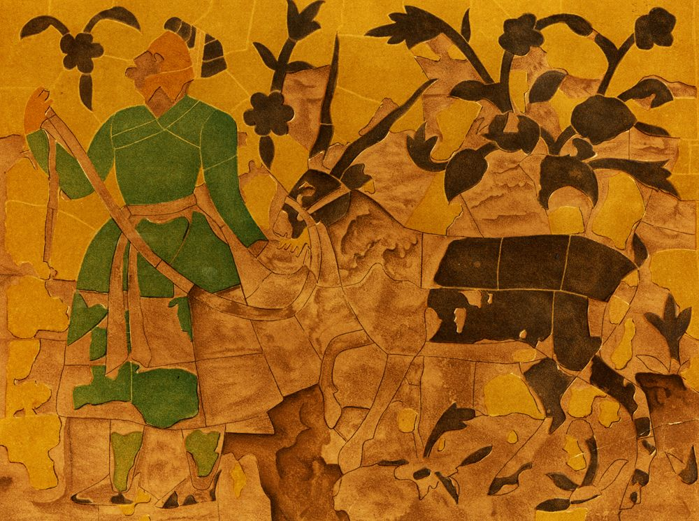 Emperor with Black Antelope