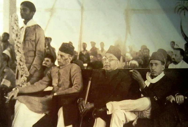 Hafeez Jullundri with Quaid e Azam