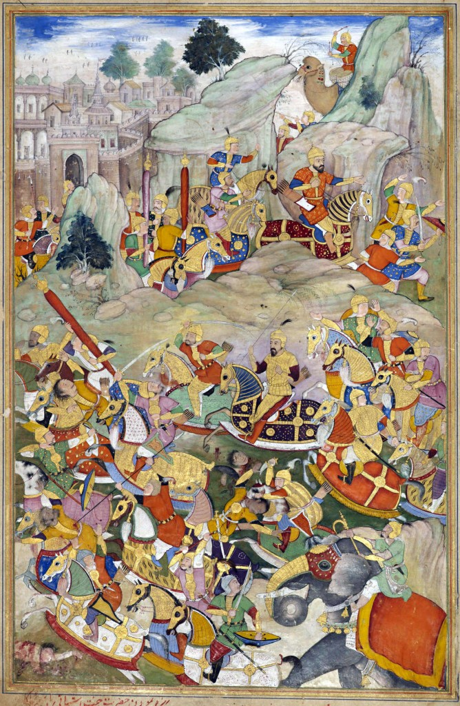 Humayun_finally_defeated_his_rebellious_brother_Kamran_in_Kabul_in_1553