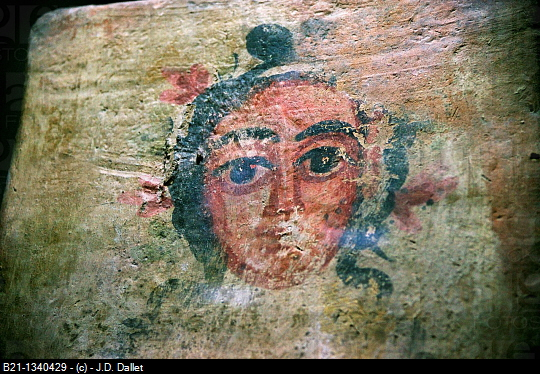 Detail of the ceiling of Dura Europos synagogue (3rd century AD), Damascus National Museum, Syria