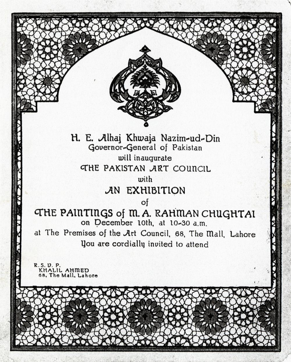 Who Founded Alhamra Lahore Obviously M A Rahman Chughtai