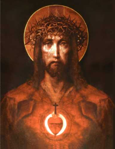 Jesus Christ with thorn crown