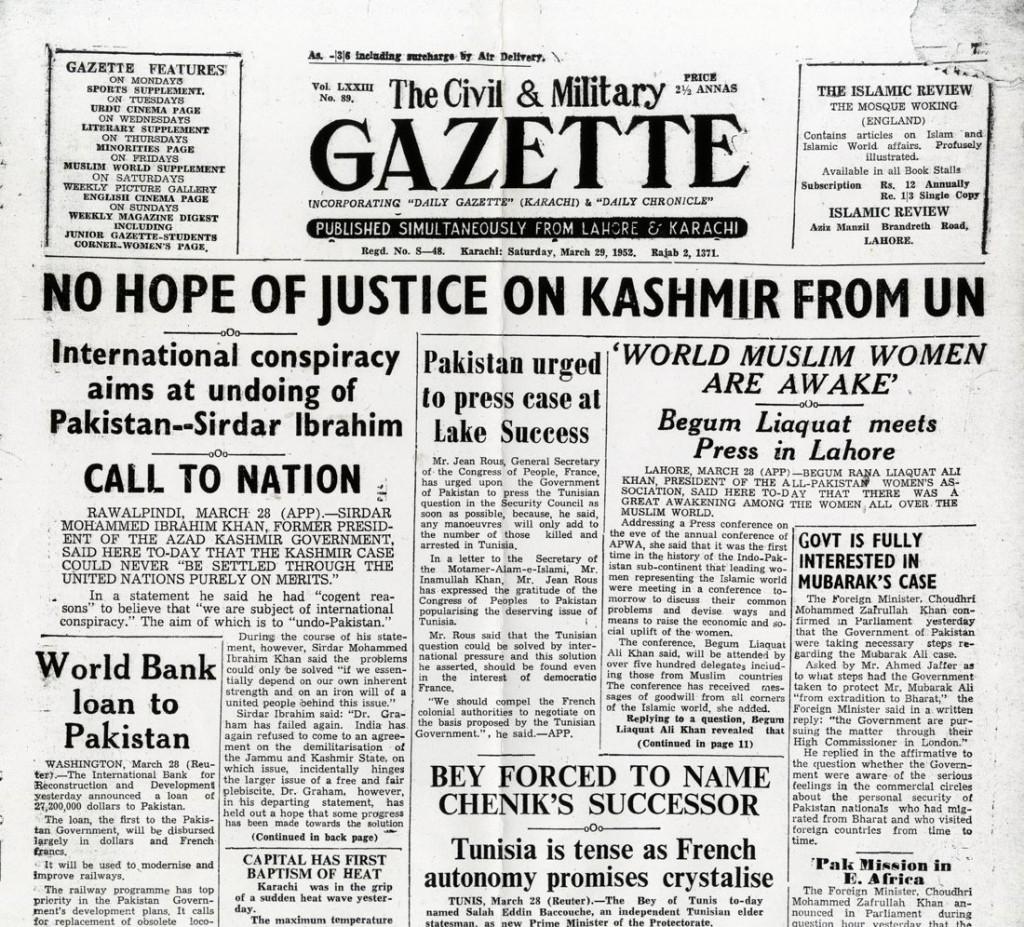 Kashmeer Conspiracy 1952
