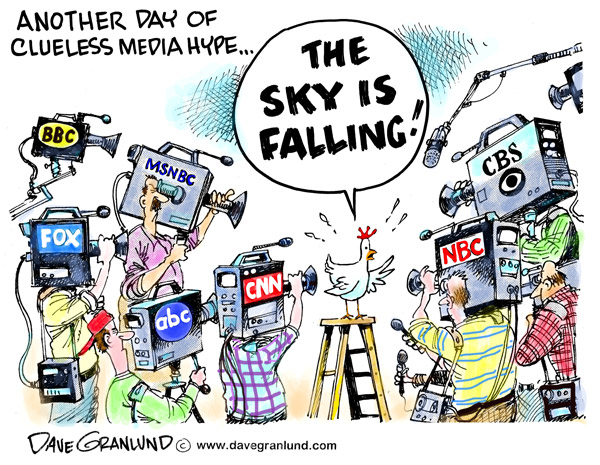 Media hype cartoon