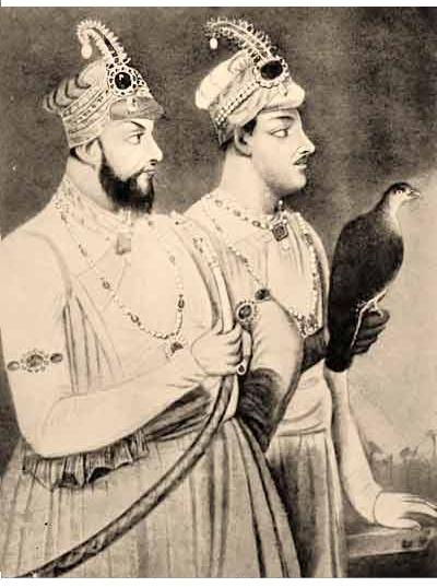 Mir Jaffer and son Mir Miran