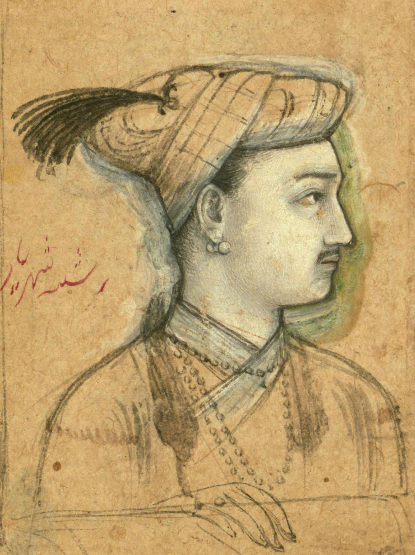 Shahriyar *ink and pigments on paper  *5.3 x 4.2 cm
