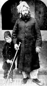 Mirza Ghulam Ahmad with son