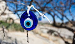 Modern evil eye of Turkey