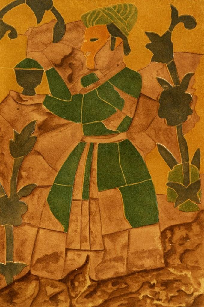 Mughal helper fresco
