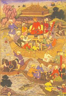 Title: Mughals on ships