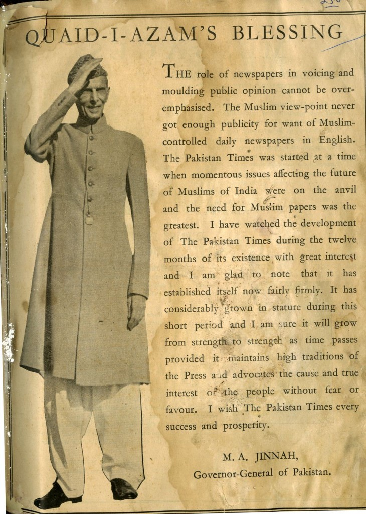 Pakistan Times Annual 15th August 1948