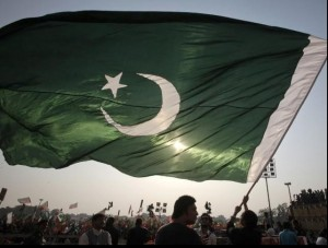 Pakistani flag Rising Crescent