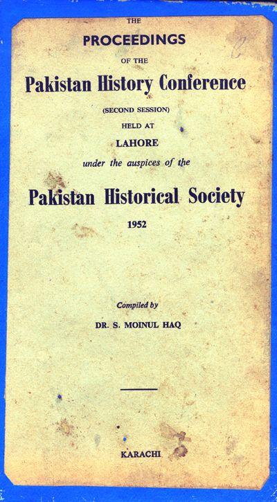 Pakistran History Conference Lahore 1952