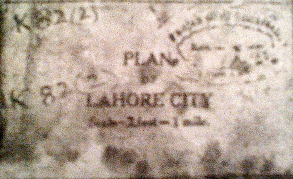 Plan of Lahore 1929
