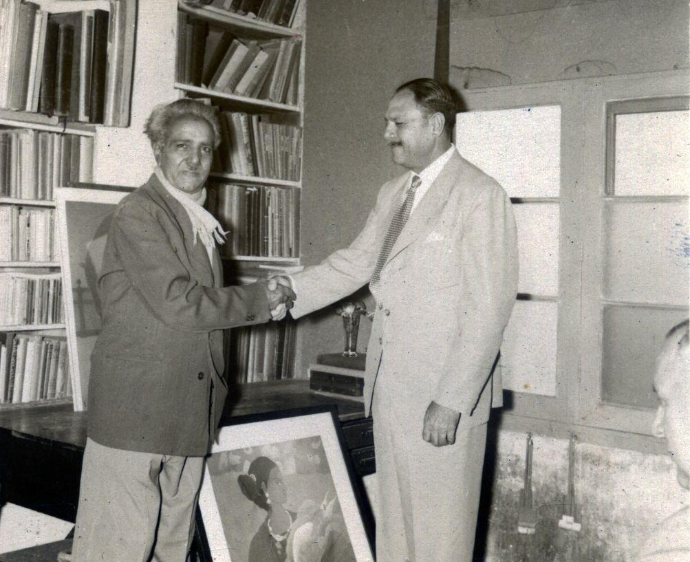 Presentation of painting for President Ayub Khan
