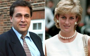 Princess Diana and Hasnat Khan