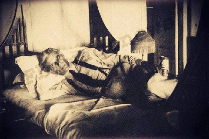 Quaid e Azam resting in bed