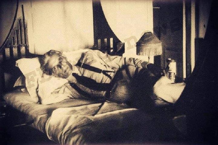Quaid e Azam resting in bed