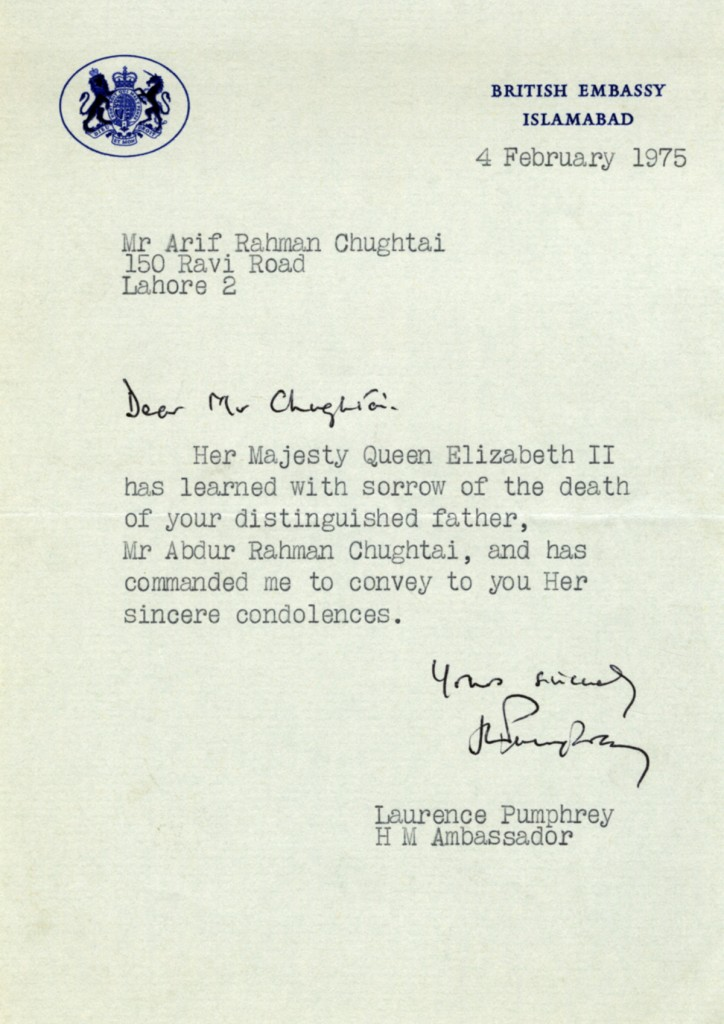 Queen's Condolence