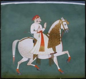 Raja on horse