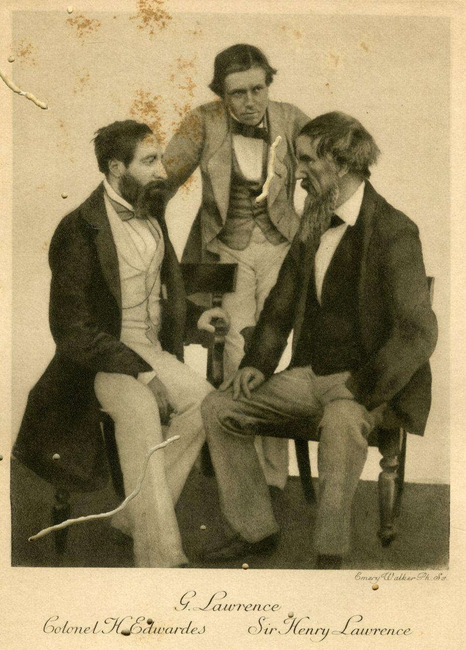 Rare image of Lawrence and Edwardes