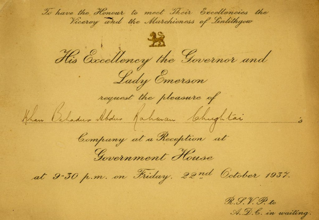 Royal Invitation 1937