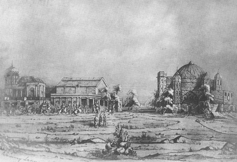 Sahib Jamal Mausolerum in ruin 1849