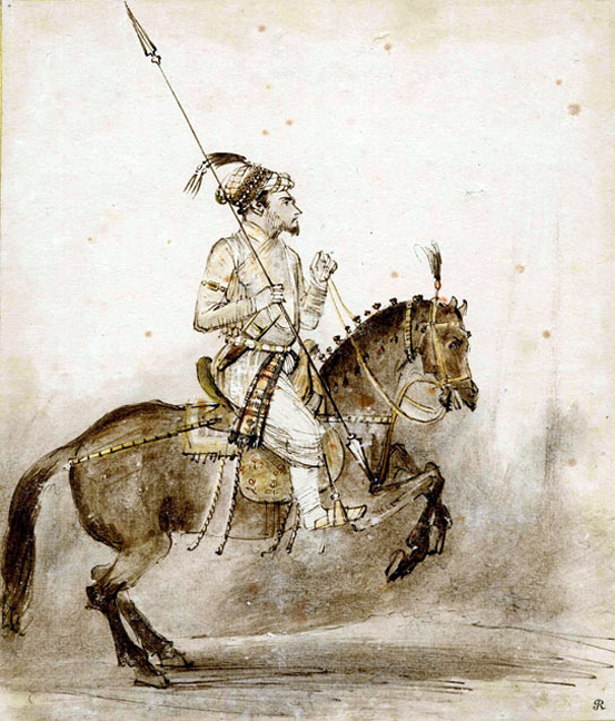 Shah Jahan on a horse
