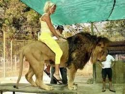 Women still ride lions